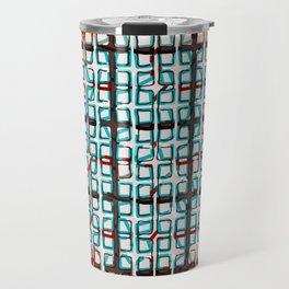 Color line abstract design print Travel Mug