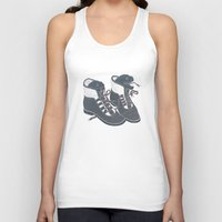 heels Tank Tops featuring Moray Heels by Jacqueline Pytyck