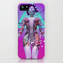 Ghost in the Shell Anime Fan Art (Cyberpunk, Vaporwave aesthetic) iPhone Case