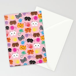 Cats Love String I Stationery Cards