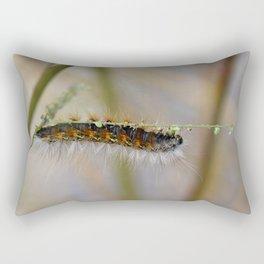 Hang on There Fuzzy Caterpillar 1 Rectangular Pillow