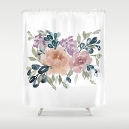 Fall Flowers + Leaves Shower Curtain