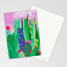 Painted cacti Stationery Cards