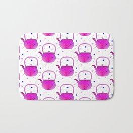 Pink Teapots Bath Mat