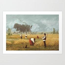 1920 - advanced harvest Art Print