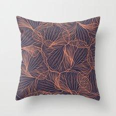 Red de Orquídea (on blue) Throw Pillow