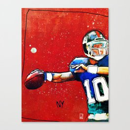 NY Giants' Eli Manning Canvas Print