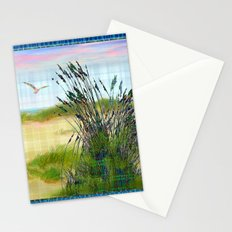 Plaid Beachscape with Seagrass Stationery Cards