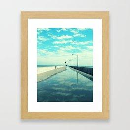 Breakwater Lighthouse Framed Art Print