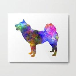 Greenland Dog in watercolor Metal Print