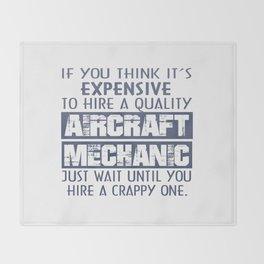 Aircraft Mechanic Throw Blanket