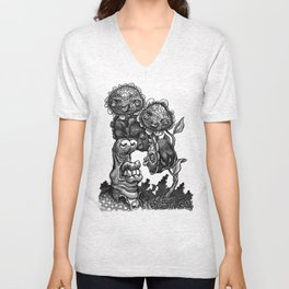 Posin' With Posies Unisex V-Neck