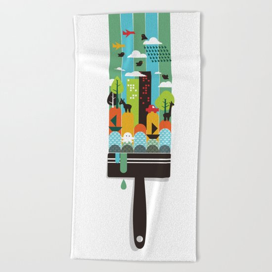 Paint your world Beach Towel
