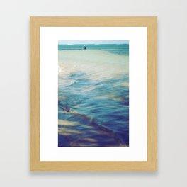Fisherman in the distance, Mauritius II Framed Art Print