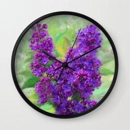 Watercolor Lilac Wall Clock