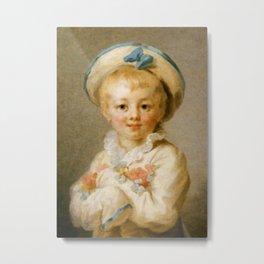 """""""A Boy as Pierrot"""" by Jean-Honore Fragonard Metal Print"""