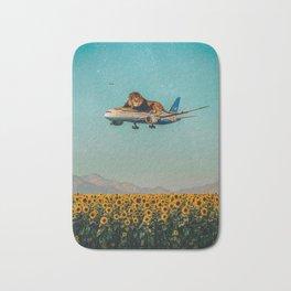Lion on a plane Bath Mat
