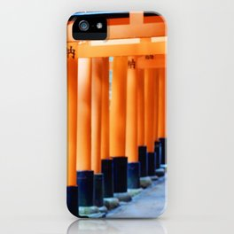 The Orange Torii Gates at Fushimi Inari Taisha, Kyoto iPhone Case
