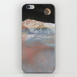 Starry Desert Night Waxing Moon iPhone Skin