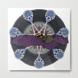 bat and heptagram Metal Print