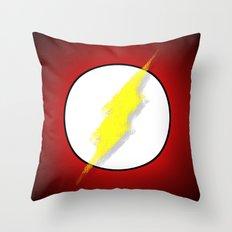 Superhero abstract logo Throw Pillow