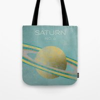 saturn Tote Bags featuring Saturn by Metron