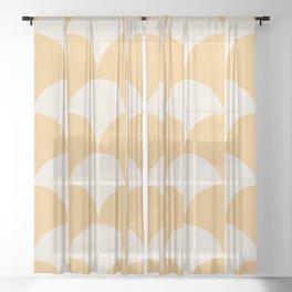Cleo Pattern - Sunrise Sheer Curtain