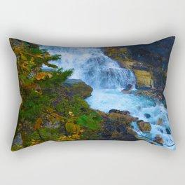 White Falls along the Berg Lake Trail in BC Rectangular Pillow