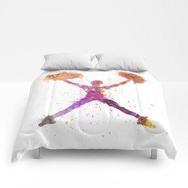 young woman cheerleader 02 Comforters