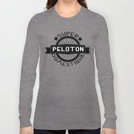 Peloton Super Domestique Retro Bike Bicycling Long Sleeve T-shirt