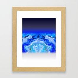 galaxy flow Framed Art Print
