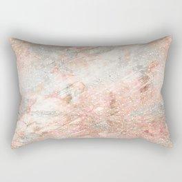 Silver Rose Gold Fusion Rectangular Pillow