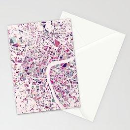 London Mosaic Map #5 Stationery Cards