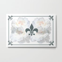 Floral And Structure Metal Print
