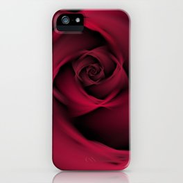 Abstract Rose Burgundy Passion iPhone Case