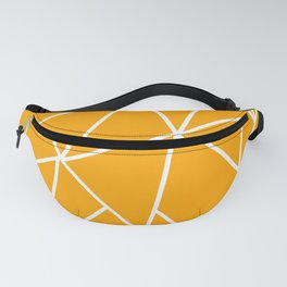 ABSTRACT DESIGN (WHITE-ORANGE) Fanny Pack