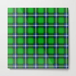 Scottish Tartan Blue and Green Metal Print