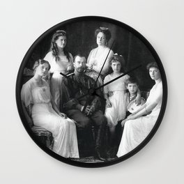 Russian Imperial Family, House of Romanov (1913) Wall Clock