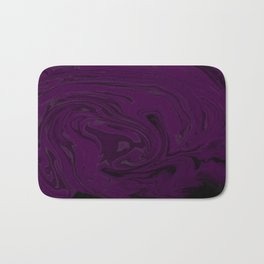 black and purple swirls  Bath Mat
