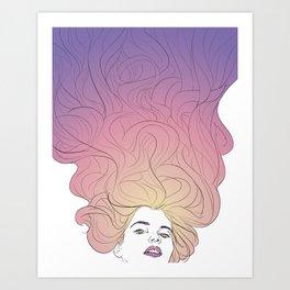 hair no. 1 Art Print