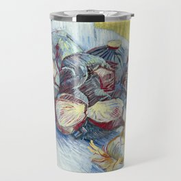 Red Cabbages and Onions by Vincent van Gogh, 1887 Travel Mug
