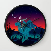 watch Wall Clocks featuring Night watch by mangulica
