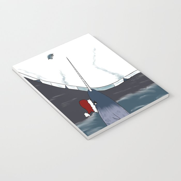 A Narwhal For Christmas Notebook