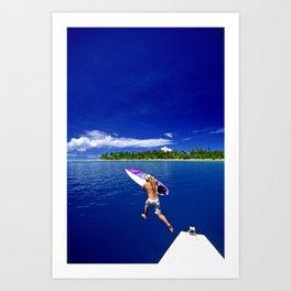 surfEXPLORE Maldives Art Print