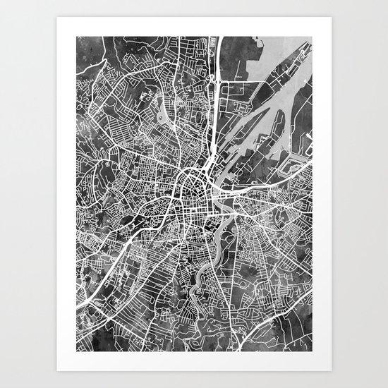 Belfast Northern Ireland City Map by artpause