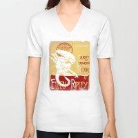 xenomorph V-neck T-shirts featuring Le tournée du xenomorph noir by Legendary Phoenix
