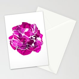 Purple flower illustration Stationery Cards