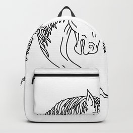 Unicorn and Maiden Heart Drawing Backpack