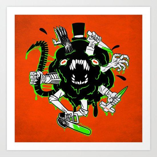 Monster Rumble! Art Print