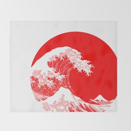 Hokusai great wave of Kanagawa Throw Blanket